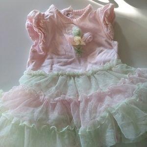 Baby girls tutu bodysuit 6m